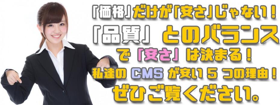 最上部バナー弊社のCMSが安い5つの理由